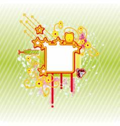 spring square frame vector image