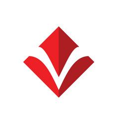 Square letter v logo vector