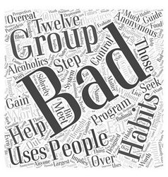 Support Groups for People with Bad Habits Word vector image