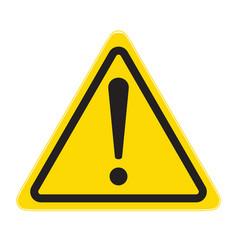 technical warning sign hazard vector image