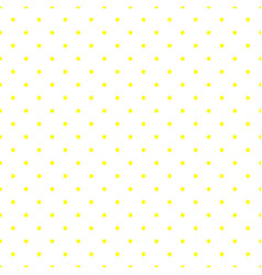 tile pattern with yellow polka dots on white vector image