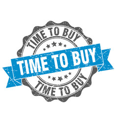 time to buy stamp sign seal vector image