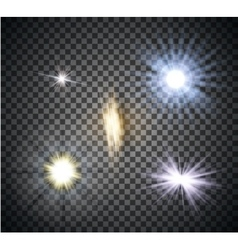 Transparent lighty effects on a dark background vector image