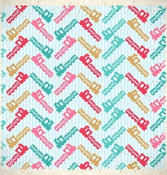 vintage background with cute train vector image