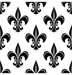 Vintage royal fleur-de-lis seamless pattern vector