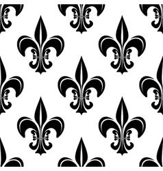 vintage royal fleur-de-lis seamless pattern vector image