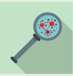 virus magnify glass inspection icon flat style vector image
