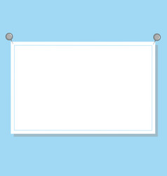 White paper on blue background for text vector