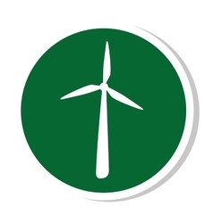 windmill silhouette energy icon vector image