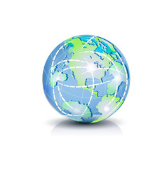 world globe connect network symbol vector image