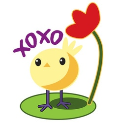 Xoxo chick vector