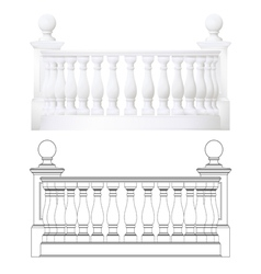 balcony vector image vector image