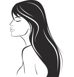 beauty woman portrait design element vector image