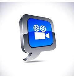 Cinema 3d balloon button vector image vector image