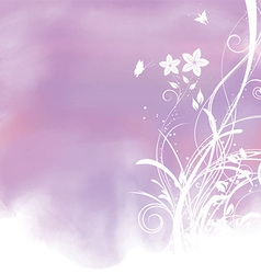 floral watercolor background 1804 vector image