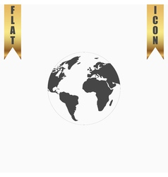 Pictograph of globe vector image vector image
