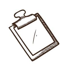 Plane tablet symbol vector image