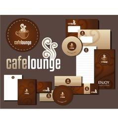 Cafe Lounge Corporate Design vector image