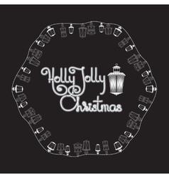 Holly Jolly Christmas card Lanterns and vector image vector image