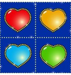 multicolor hearts vector image vector image