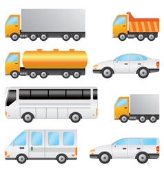 Set of various vehicles vector image vector image