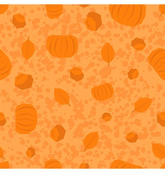 Thanksgiving Day polygonal pattern in orange color vector image