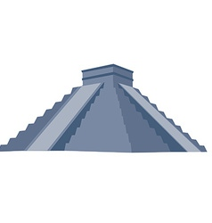 Chichen itza grey vector image