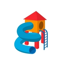 Children tube slide cartoon icon vector