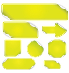 fresh green stickers set vector image vector image