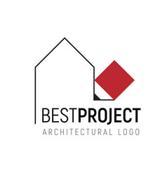 logo template for architectural vector image