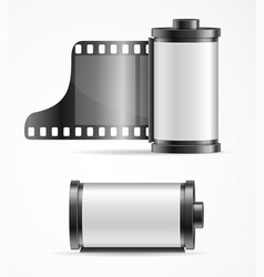 realistic 3d detailed camera film roll cartrige vector image vector image