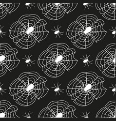 cobweb seamless pattern background spider web vector image vector image