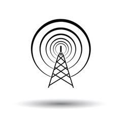 Radio antenna icon vector