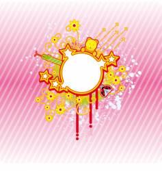 spring circle frame vector image