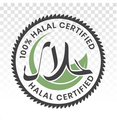 100 halal certified food product sticker labels vector