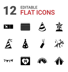 12 event icons vector image