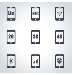 3G 4G and LTE technology vector image