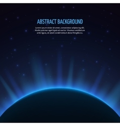 Abstract space background with planet and vector
