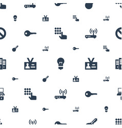 access icons pattern seamless white background vector image