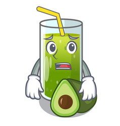 Afraid avocado smoothies are isolated on vector