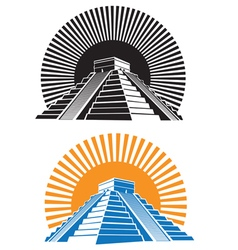 ancient pyramids vector image