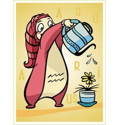 astrological sign aquarius baby birth vector image
