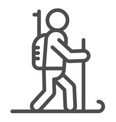 biathlete line icon biathlon vector image