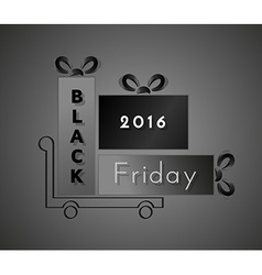 Black friday and shopping cart vector