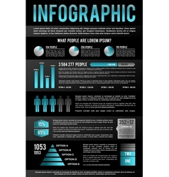 Black Infographic Template vector