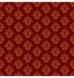 brown vintage seamless pattern vector image