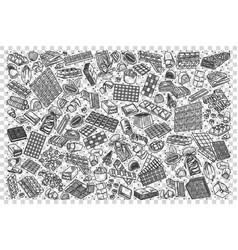 chocolate doodle set vector image