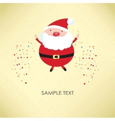 Christmas card with Santa Klaus vector image