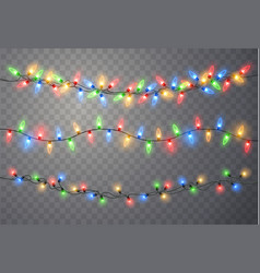 Christmas lights xmas string vector