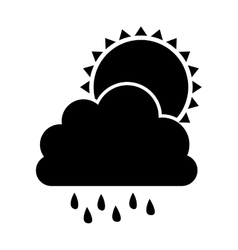 cloud and rain icon image vector image